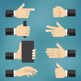 Illustration of collection of hand gestures Royalty Free Stock Photo