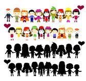 Illustration of collection of simple kids Royalty Free Stock Photo