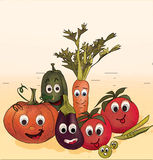 Illustration Collection of Vegetables Royalty Free Stock Photo