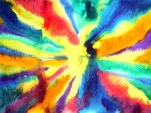 Illustration colorée abstraite de peinture d'aquarelle d'énergie de puissance d'éclaboussure Photo libre de droits