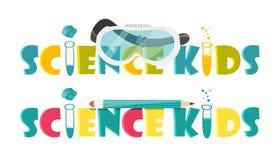 Illustration colorée avec les instruments scientifiques et l'équipement pour la recherche Vecteur illustration stock