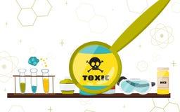 Illustration colorée avec les instruments scientifiques et l'équipement pour la recherche Vecteur illustration libre de droits