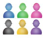 Icônes de personnes Photo stock