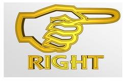 Illustration colorée d'un ` de droite de ` qui va éclater illustration libre de droits