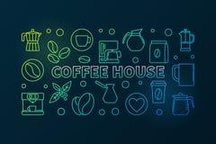 Illustration colorée de café Bannière de concept de café de vecteur illustration de vecteur