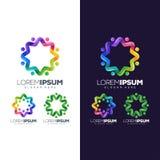 Illustration colorée de conception de logo de cercle illustration stock