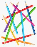 Illustration colorée de crayons Photos stock