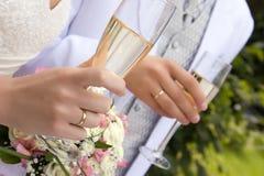 Illustration colorée de mariée et de marié Image libre de droits