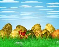 Illustration colorée de Pâques Photos libres de droits