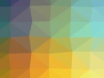 Illustration colorée de polygone Photos libres de droits