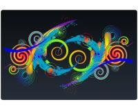 Illustration colorée de spirales Images libres de droits