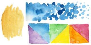 Illustration colorée de texture d'aquarelle Image libre de droits