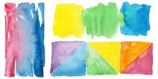Illustration colorée de texture d'aquarelle Photo stock