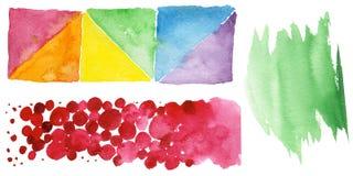 Illustration colorée de texture d'aquarelle Photographie stock