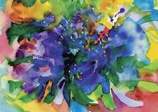 Illustration colorée de vecteur de fond d'abrégé sur aquarelle Photo libre de droits