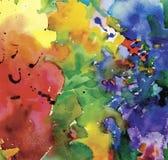 Illustration colorée de vecteur de fond d'abrégé sur aquarelle Photos stock