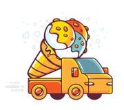 Illustration colorée de vecteur de voiture rouge Photos stock