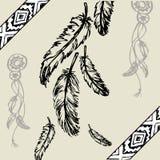 Illustration colorée de vecteur des plumes Images stock