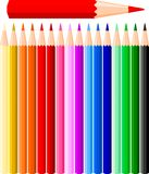 Illustration of color pencils Royalty Free Stock Photo