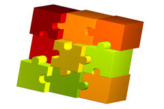 Illustration of color puzzle pieces Stock Photography