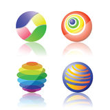 Isolated color spheres Royalty Free Stock Image