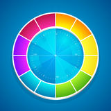 Illustration of a color wheel Royalty Free Stock Photo