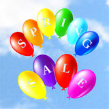 Illustration of colored balloons Stock Image