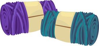 Illustration colored balls of yarn Royalty Free Stock Photos