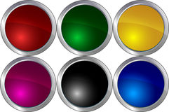 Illustration:colored circles Royalty Free Stock Photo