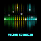 Illustration of the colored digital equalizer. Colored vector equalizer. This is file of EPS10 format Royalty Free Stock Photography