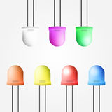 Illustration of colored diode Stock Photography