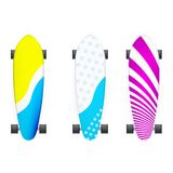 Illustration of colored longboards Stock Images