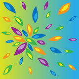 Illustration of colored petals. On a colored background Royalty Free Stock Images