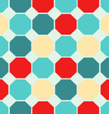 Illustration colored polygon seamless pattern Royalty Free Stock Images