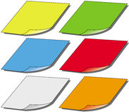 Post-it. Illustration of a colored post-it set Royalty Free Stock Photos