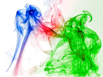 Illustration of colored smoke on the white background Royalty Free Stock Photography
