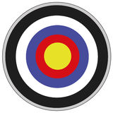 Target. Illustration of a colored target Royalty Free Stock Images