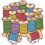 Illustration of colored threads Stock Photography
