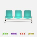 Illustration of colored waiting benches Stock Photo