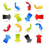 Illustration of colorful arrows Stock Photo