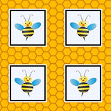 Beehive seamless pattern Royalty Free Stock Photography