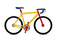 Illustration of colorful bike art Stock Photography