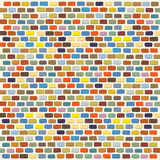 Illustration  of an colorful Bricks Wall Background Royalty Free Stock Photos