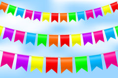 Illustration of colorful bunting Stock Photos