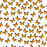 Illustration of a colorful butterfly. Very high quality original trendy vector seamless pattern with colorful butterfly Royalty Free Stock Image