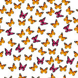Illustration of a colorful butterfly. Very high quality original trendy vector seamless pattern with colorful butterfly Stock Photography