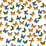Illustration of a colorful butterfly. Very high quality original trendy vector seamless pattern with colorful butterfly Stock Image