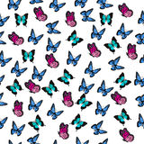 Illustration of a colorful butterfly. Very high quality original trendy vector seamless pattern with colorful butterfly Royalty Free Stock Images