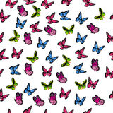 Illustration of a colorful butterfly. Very high quality original trendy vector seamless pattern with colorful butterfly Stock Images