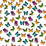 Illustration of a colorful butterfly. Very high quality original trendy vector seamless pattern with colorful butterfly Royalty Free Stock Photos